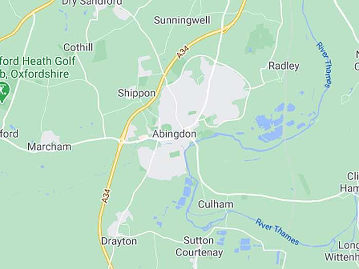 google map of abingdon