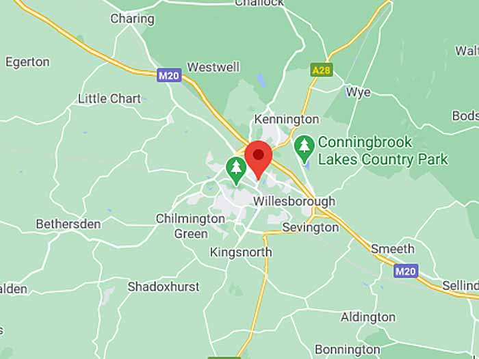 google map of ashford