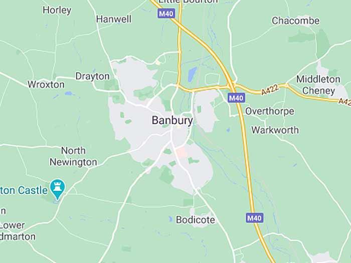 google map of banbury