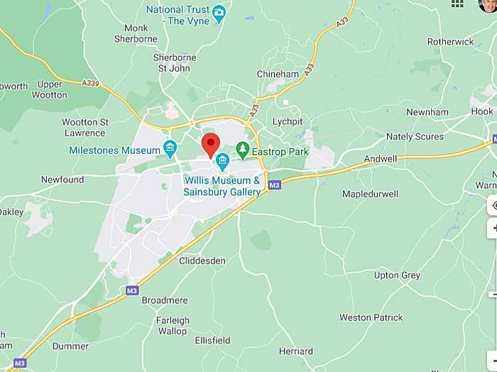 google map of basingstoke