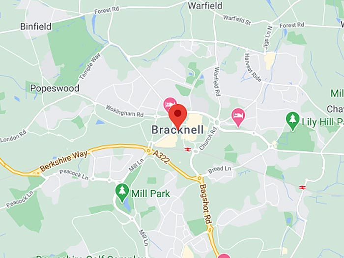 google map of bracknell