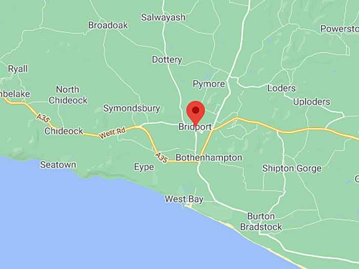 google map of bridport