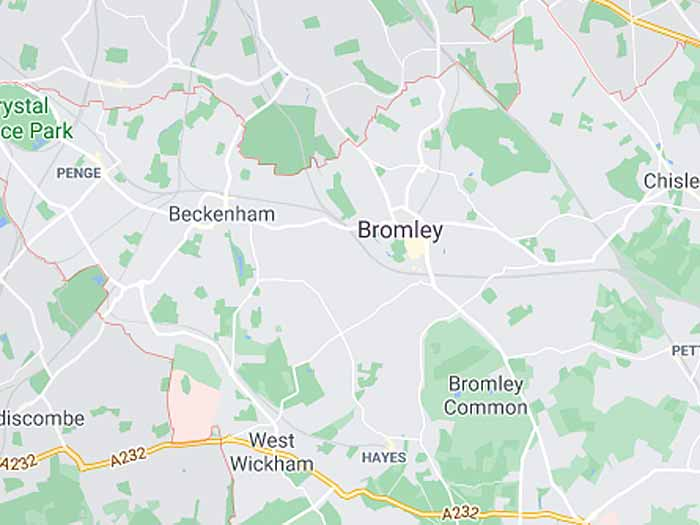 google map of bromley