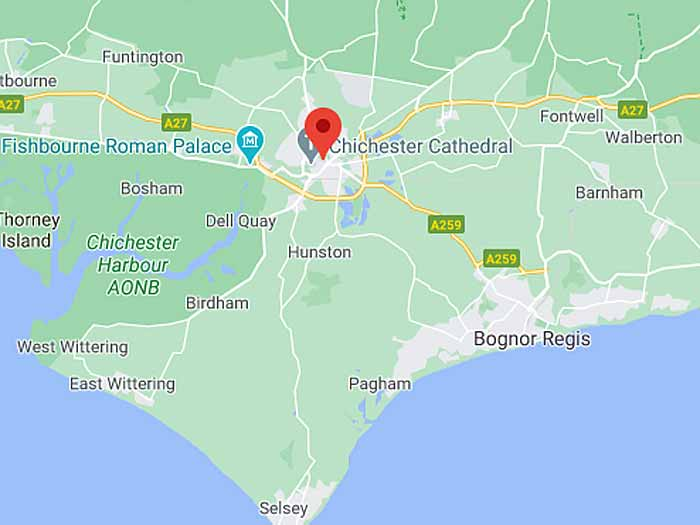google map of chichester