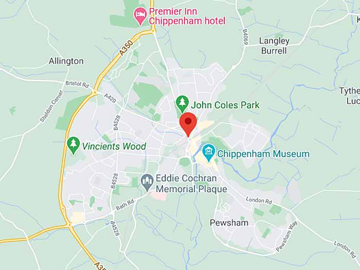 google map of chippenham
