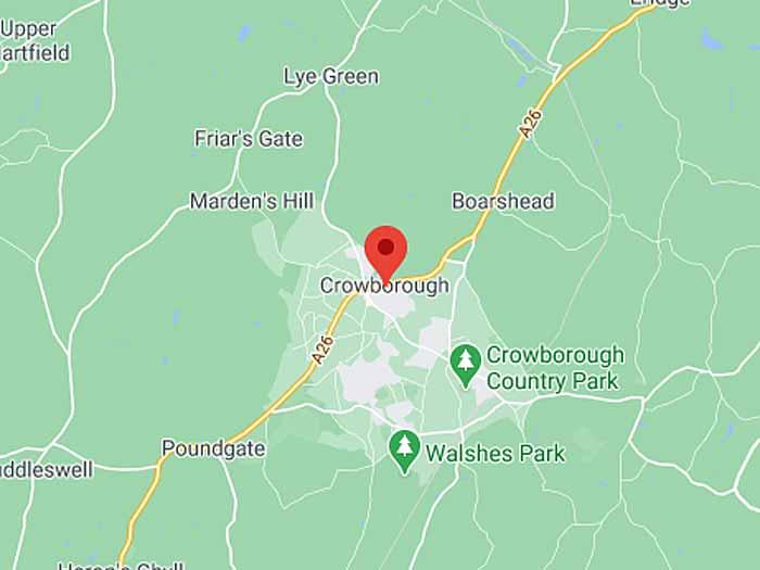 google map of crowborough