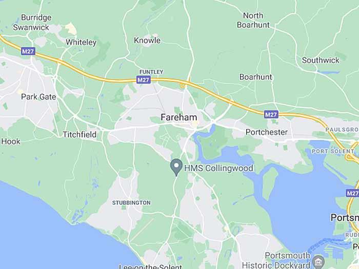 google map of fareham
