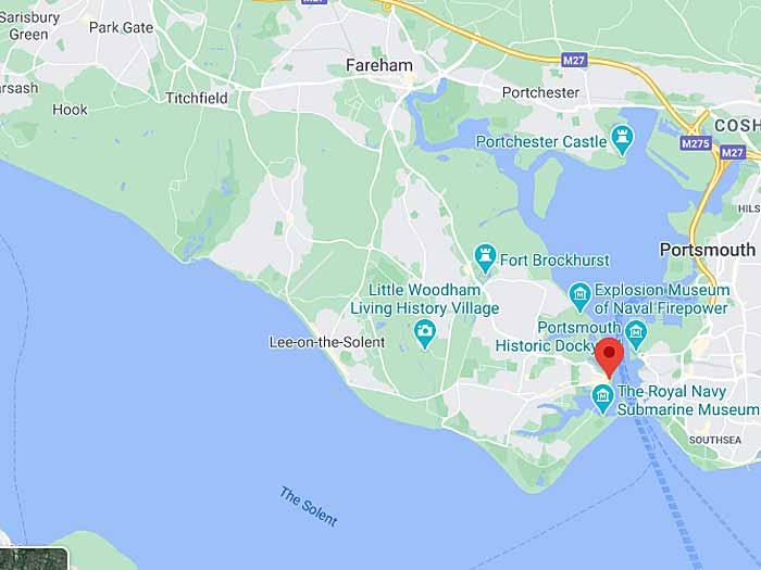 google map of gosport
