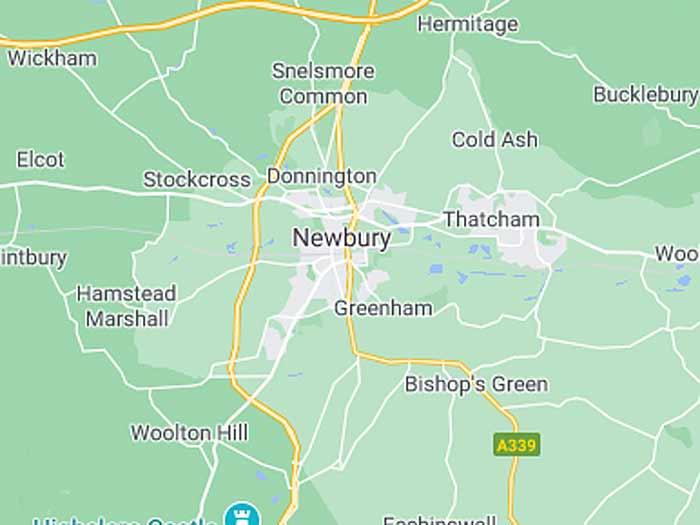google map of newbury