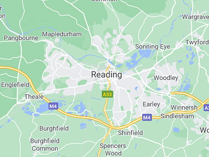 google map of reading