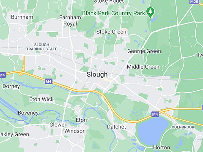 google map of slough