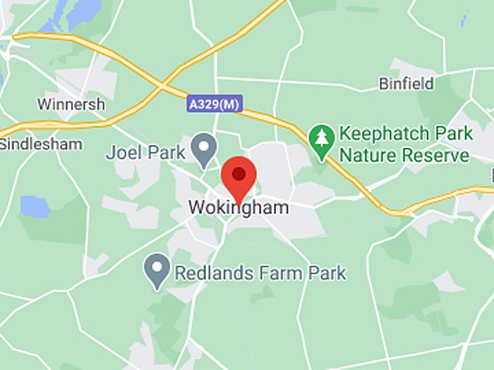 google map of wokingham